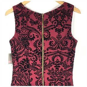 Danny & Nicole Dresses - Flocked Velvet Floral Fit & Flare Dress Size 10